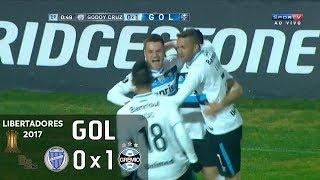 Gol - Godoy Cruz (ARG) 0 x 1 Grêmio - 1º jogo Oitavas Libertadores 2017 - 04/07/2017Narração: Luiz Alano, Comentários: BatistaEstádio: Malvinas Argentinas