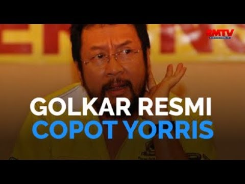 Golkar Resmi Copot Yorris