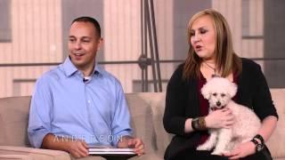 Anderson & Kristin Chenoweth Meet Fiona the Rescue Dog