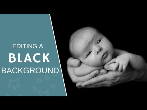 Black Background Photography | Post-shoot editing for NEWBORN sessions