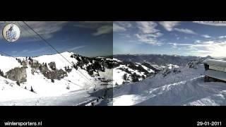 Brauneck Stie-Alm webcam time lapse 2010-2011