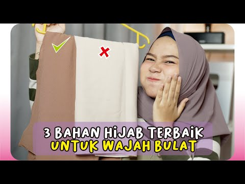 Cara Memilih Bahan Hijab Pashmina untuk Wajah Bulat