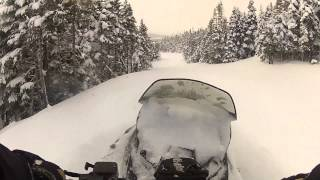 10. Ski-Doo Tundra Xtreme Breaking Trail in Ultra Deep