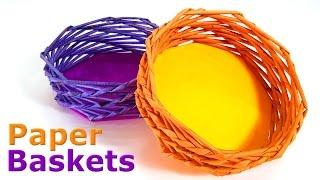 Video How to make Paper Baskets MP3, 3GP, MP4, WEBM, AVI, FLV September 2019