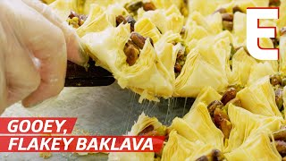 Watch Thousands of Baklava and other Middle Eastern Pastries Being Made — The Process by Eater