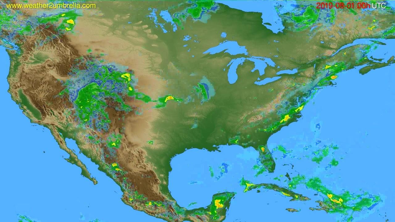 Radar forecast USA & Canada // modelrun: 12h UTC 2019-07-31