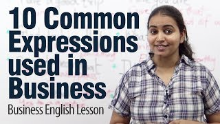10 Common Expressions Use In Business English - ESL Lesson