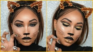 Halloween Full Glam | Cat Face Makeup
