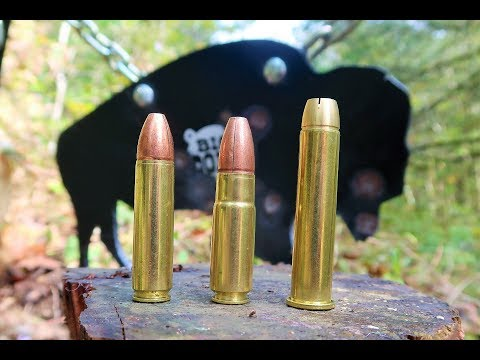 4570 VS 450 Bushmaster VS 458 Socom - Shooting Steel - Big Dong Targets