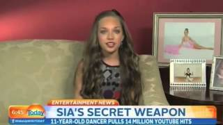 "Maddie Ziegler Interview at Today Show - About Being In Sia's Music Video ""Chandelier"""