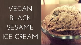 Vegan Black Sesame Ice Cream Recipe