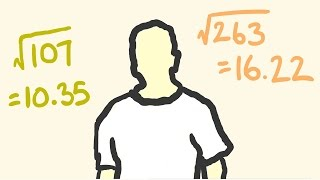Square root of ANY number instantly - shortcut math.