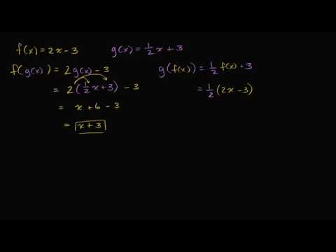 Verifying Inverse Functions By Composition Not Inverse Video