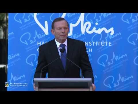 Prime Minister Tony Abbott launches Perkins Institute