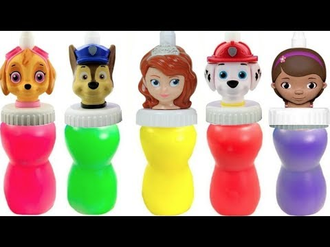 Fizzy Learning Colors VideoPaw Patrol Doc McStuffins Sofia the First Slime Surprise