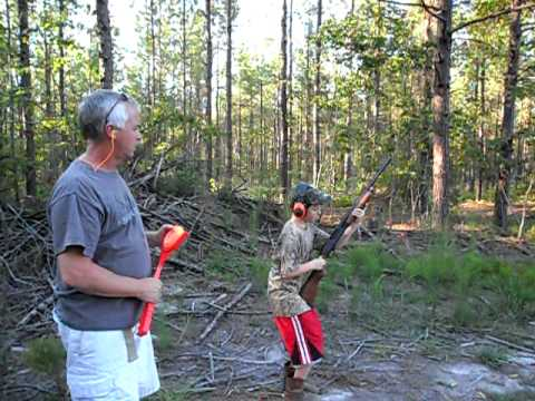 11 year old shooting a 20 guage shotgun