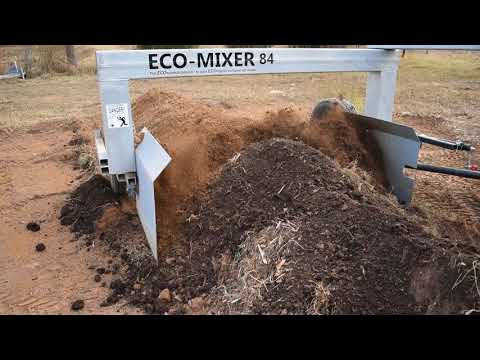 Mixing the compost pile