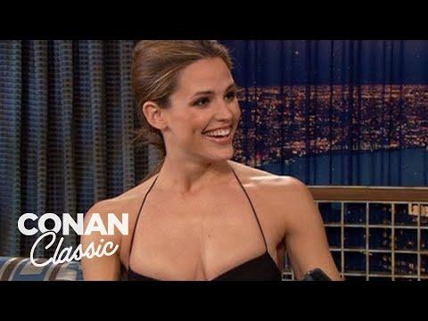 """Jennifer Garner Corrects Conan's Grammar - """"Late Night With Conan O'Brien"""""""