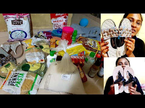 My D'Mart Shopping Haul🤩 Footwear Haul   Grocery Haul  Indian Grocery Shopping   Naziya shaikh Vlog