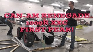7. 2016 Canam Renegade 1000R XXC First Look Out of the Crate!