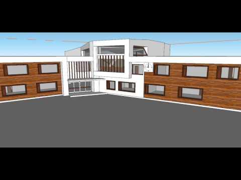 Uudisrakennuksen suunnittelua