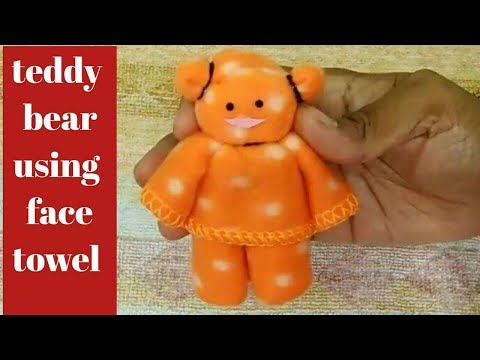 1 Minute Teddy Bear From Face Towel // How To Make Teddy Bear At Home