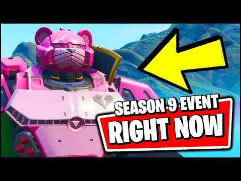 FORTNITE SEASON 9 BIGGEST EVENT *RIGHT NOW* - THE ROBOT IS FULLY BUILT AND READY TO BATTLE