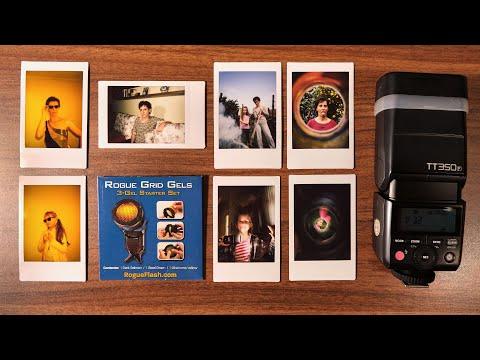 Utilizarea aparatului foto instant Fujifilm Instax mini 11 cu blitul Godox TT350F si geluri colorate