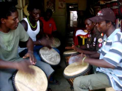 African Drum Circle in Accra Ghana Cultural Arts center 2