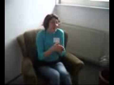crazy German girl sings about shark... hilarious