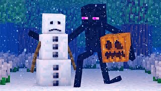 Video Snowman & Villager Life 1 - Minecraft Animation MP3, 3GP, MP4, WEBM, AVI, FLV Desember 2018