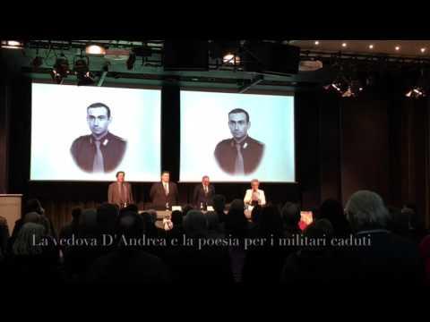 La vedova D'Andrea e la poesia ai militari caduti