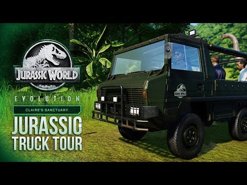 Testing The JURASSIC TRUCK TOUR! | Jurassic World: Evolution Claire's Sanctuary