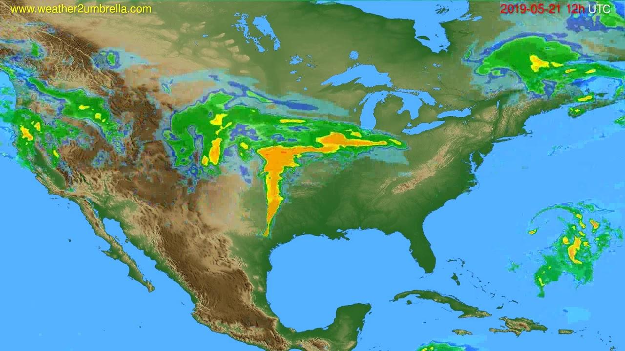 Radar forecast USA & Canada // modelrun: 00h UTC 2019-05-21