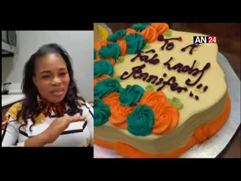 FUNKE AKINDELE'S HUBBY, JJC, TOPE ALABI AND STAFF WOW HER WITH A SURPRISE 40TH BIRTHDAY PARTY