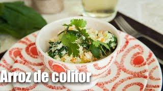 Cómo hacer arroz de coliflor