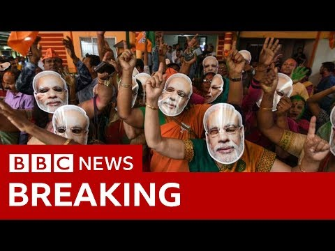 India election results 2019: Narendra Modi takes landslide win - BBC News