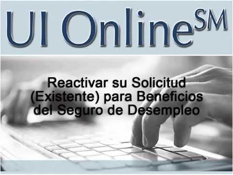 UI Online: Reactivar su solicitud (existente) para beneficios del Seguro de Desempleo