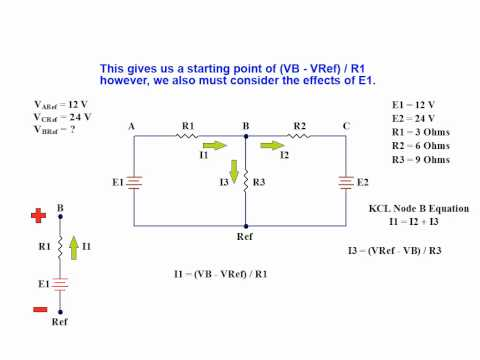 Online Tutorial on Node Voltage Analysis of a Linear DC Network using Kirchhoff's Current Law