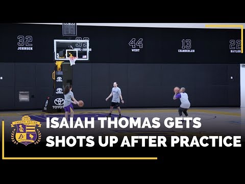 Video: Your FIRST Look At Isaiah Thomas Getting Shots Up In The Lakers Practice Facility