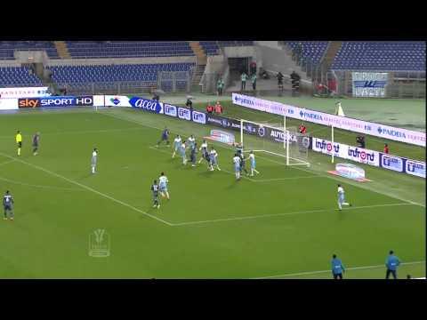 Lazio-Napoli 1-1 Andata Semifinale TIM CUP 2014/2015 HL (90 sec)