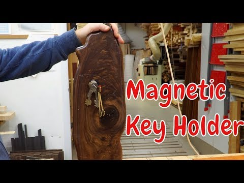 Magnetic key holder with an invisible mount (видео)