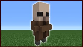 Minecraft Tutorial: How To Make A Cute Villager Statue