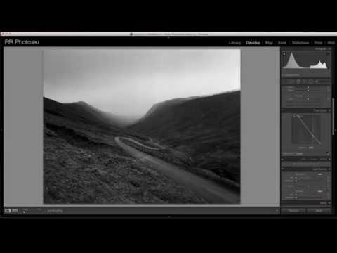 Negative B&W Raw file edit in Lightroom 5 - tutorial