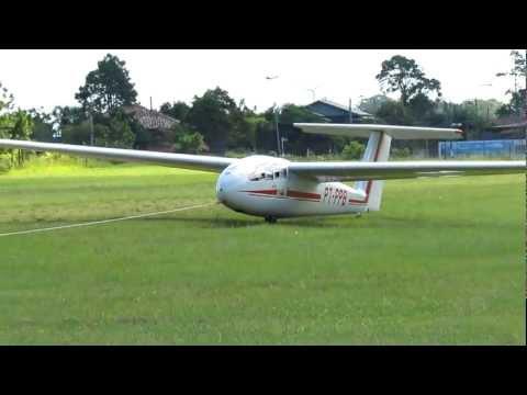 decolagem planador em osorio