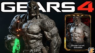 """Gears of War 4 Savage Grenadier Gameplay Savage Locust DLC Character!●Gears of War 4 Savage Locust Packs Opening: http://bit.ly/2urUg9X●Gears of War 4 Savage Locust Grenadier Elite Gameplay: http://bit.ly/2tWQQsCWelcome back to another Gears of War 4 Video! Today's video we are going to be showcasing Gears of War 4 Savage Grenadier Character Gameplay. Within Gears of War 4 Savage Grenadier Elite can only be obtained in the DLC Gears of War 4 Savage Locust Pack. Overall the Gears of War 4 Savage Locust Packs contain multiple Gears of War 4 Multiplayer Characters including Gears of War 4 Savage Locust Drone, Gears of War 4 Savage Locust Grenadier Elite, Gears of War 4 Civilian Anya as well as Gears of War 4 Savage Grenadier as seen in this video.SUBSCRIBE to stay up to date with the latest """"Gears of War 4 - Gears of War Ultimate Edition"""" (GOW) information!•Twitch: http://www.twitch.tv/sasxsh4dowz•Twitter: https://twitter.com/SASxSH4DOWZ•Facebook: https://www.facebook.com/SASxSH4DOWZ●Intro by Monsty - https://www.youtube.com/user/monstyARTSSubscribe for more videos! - Shadowz---Video upload by SASxSH4DOWZ (Shadowz Gears of War)Gears of War 4 © Microsoft Corporation. """"Gears of War 4 - """"Savage Grenadier"""" Character Multiplayer Gameplay!"""" was created under Microsoft's """"Game Content Usage Rules"""" using assets from Gears of War 4 and it is not endorsed by or affiliated with Microsoft.Microsoft Content Usage Rules: http://www.xbox.com/en-US/developers/..."""