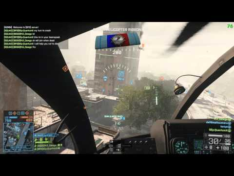 BIRD - Uncut Footage from some of a 77- 3 round in the Scout Helicopter on Flood Zone Vehicle: AH-6J Little Bird Loadout: 25mm Cannons, Heatseekers, ECM Jammer, Ste...