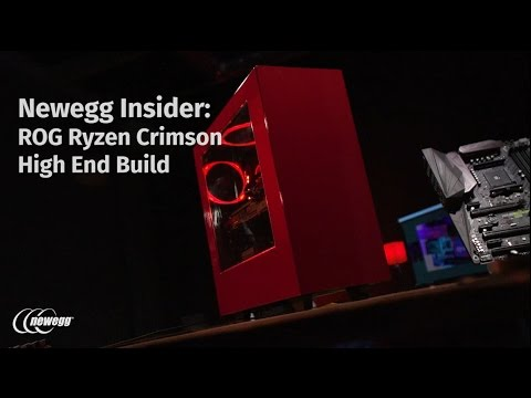 Newegg Insider: Ryzen 7 1800X & ROG X370 CROSSHAIR VI HERO Red & Black Gaming Build