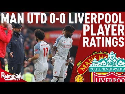 Salah Gets A 5 | Man Utd V Liverpool 0-0 | Player Ratings