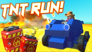 TNT RUN in SCRAP MECHANICS!!